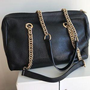 Versace Collection black leather handbag